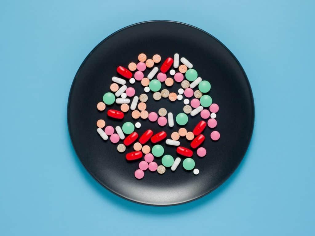 Assortment of dietary supplements