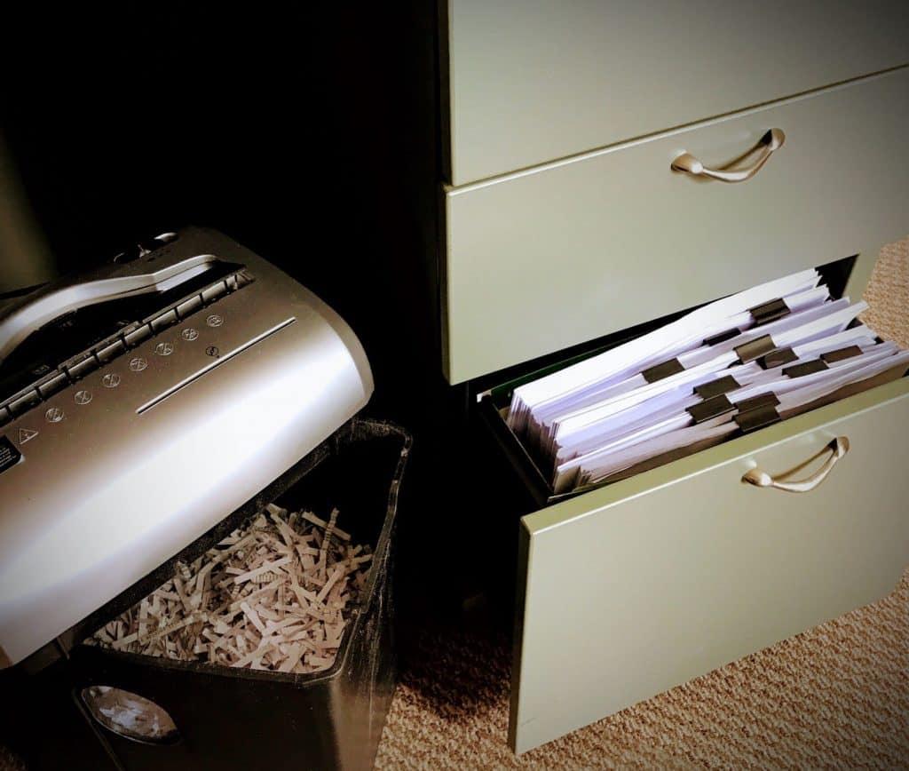 Shredding files