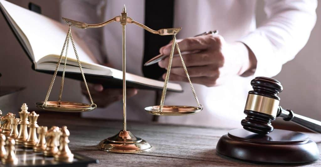 Lawyer filing lawsuit